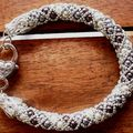 Bracelet crystal bangle mauve