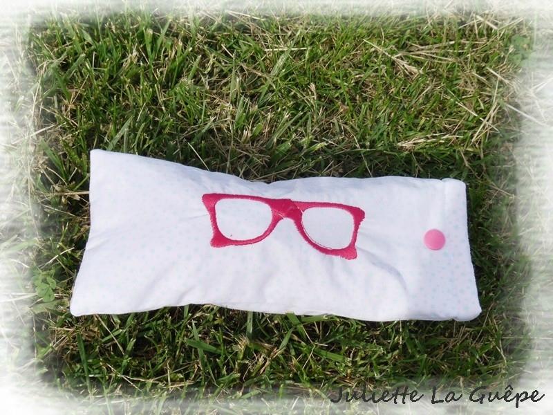 étui à lunettes rose 1