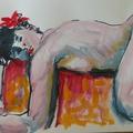 Croquis, dessin et peinture de nus, acrylique aquarelle gouache huile (25)