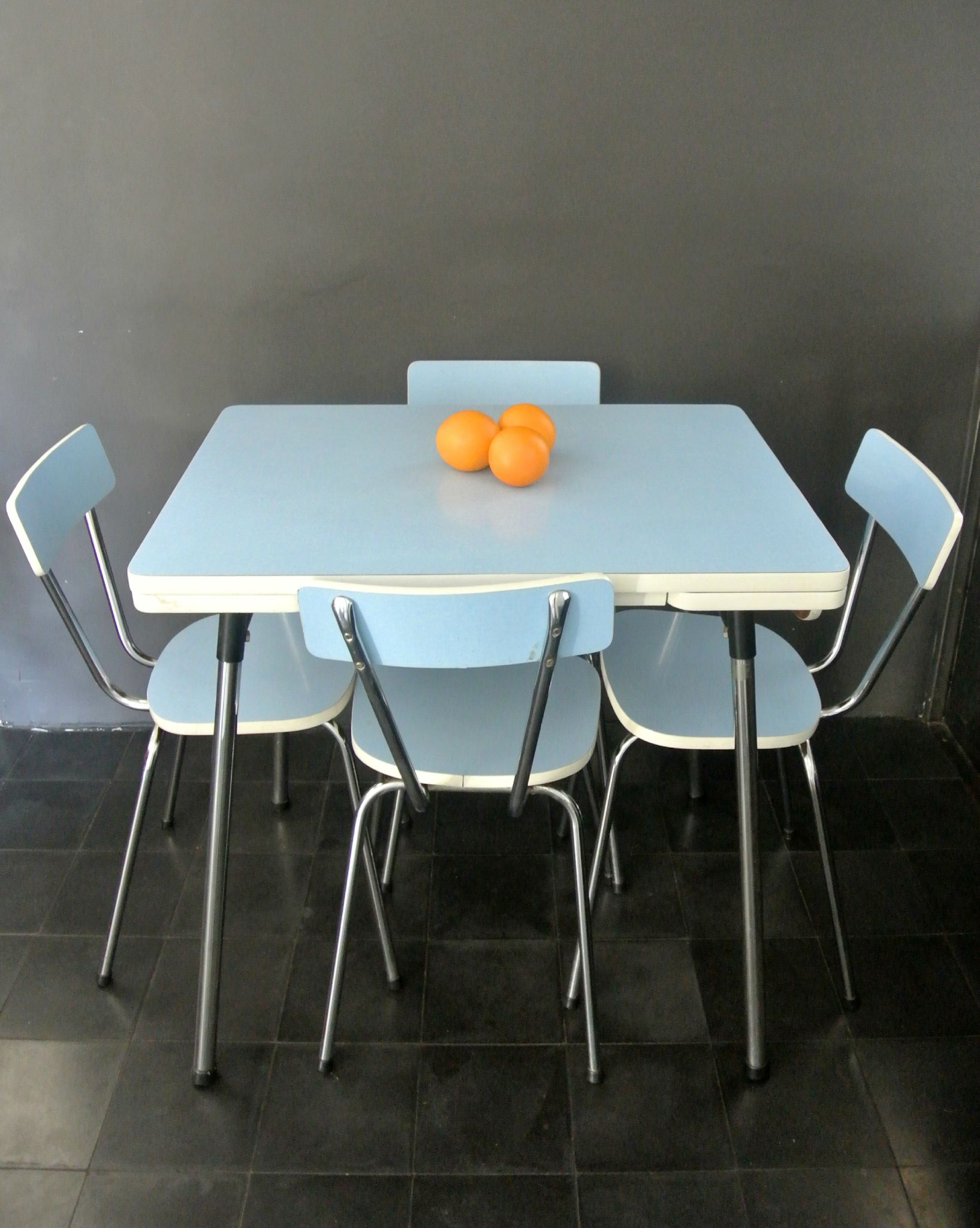 Dining set en formica des ann es 60 solveig vintage kids for Table de cuisine des annees 50
