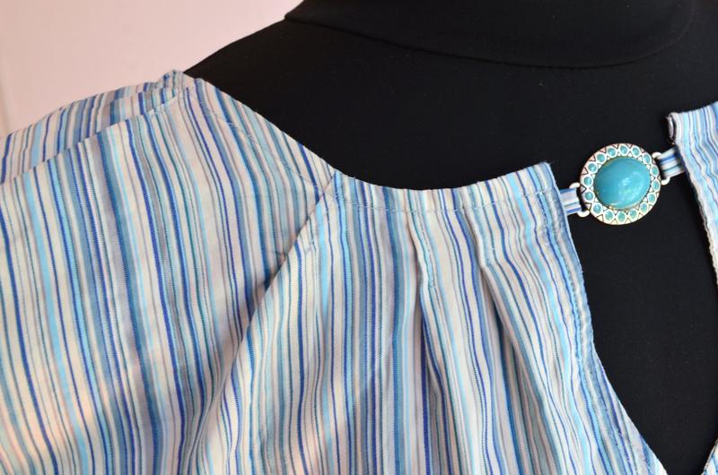 Chemise bleue à petit plis-couture-La chouette bricole (6)