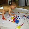 Activité peinture pour baptiste