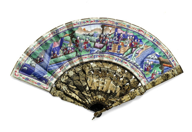 A Cantonese 'mandarin' fan, 19th century