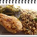 Poulet au quinoa et haricots verts