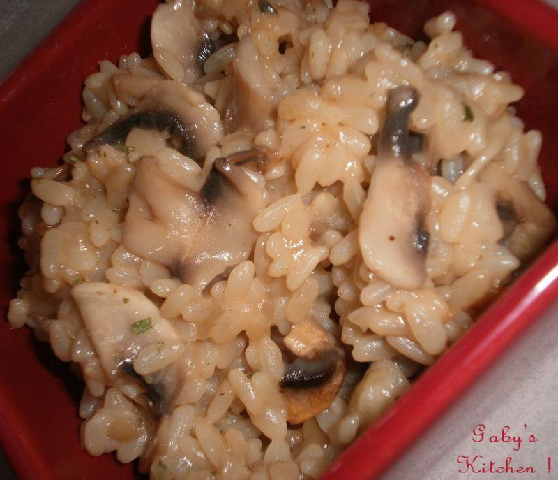 Risotto cr meux aux champignons gaby 39 s kitchen - Peut on donner du riz cuit aux oiseaux ...