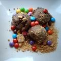glace au chocolat et smarties