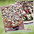 Tarte fine courgettes pancetta mozzarella de bufflone