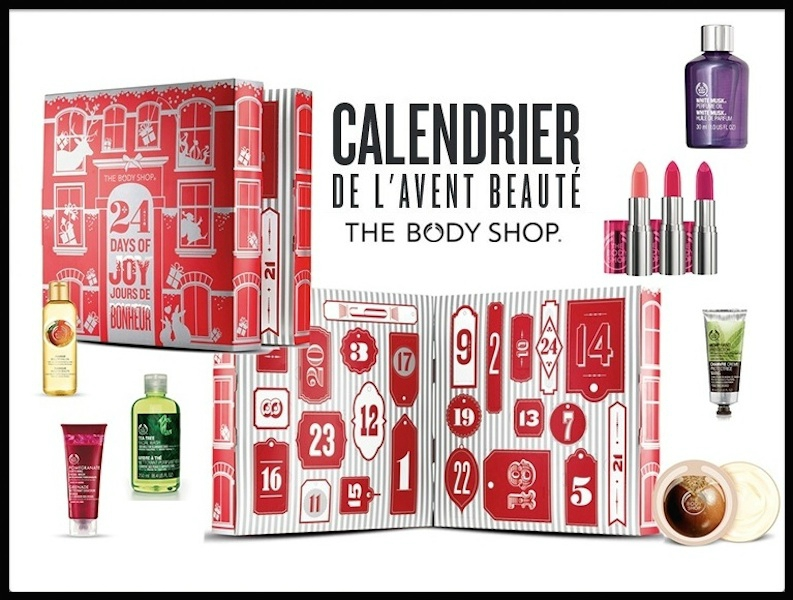 calendrier de l avent coffret beaut the body shop le blog de moon. Black Bedroom Furniture Sets. Home Design Ideas
