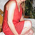 robe soufflet rouge t40