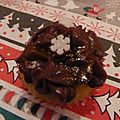 Cupcakes de noël - cupcakes à l'after eight (chocolat/menthe)