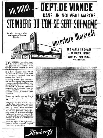 Steinberg Bordeaux Mont-Royal mars 1948