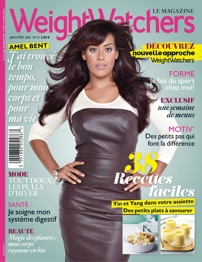 amel en couverture du mag weight watchers janvier f vrier 2013 exclue sortie la r union ce. Black Bedroom Furniture Sets. Home Design Ideas