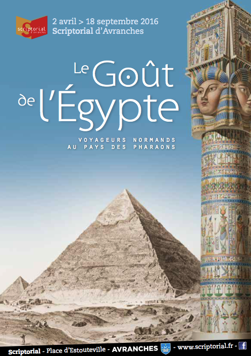 exposition Egypte Scriptorial Avranches expo 2016 affiche