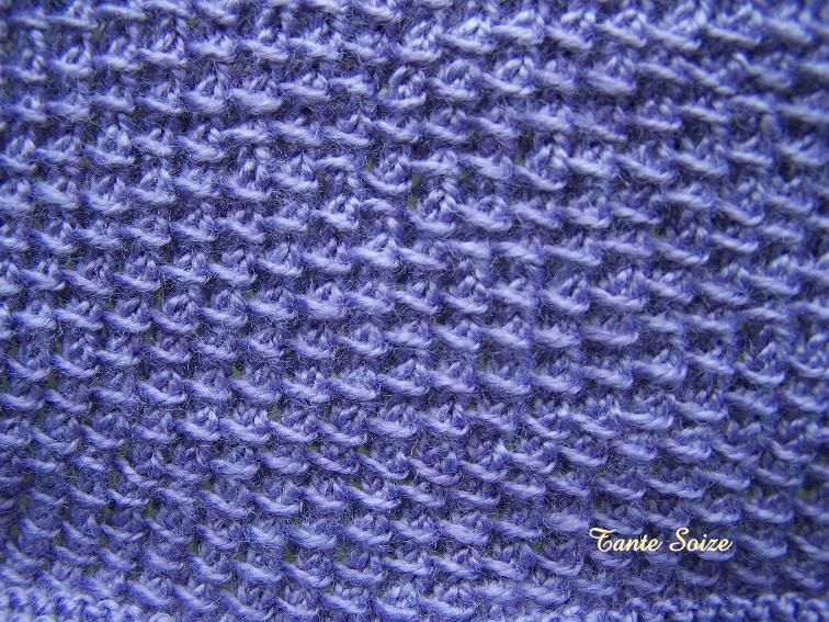 Point de tweed 2 tons jolis points - Point tricot facile joli ...
