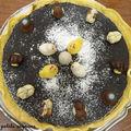 Tarte chocolat noisettes - pour pâques !