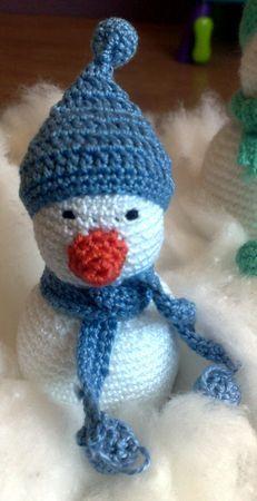 Bonhomme de neige photo de cr ations au crochet - Bonhomme de neige au crochet ...