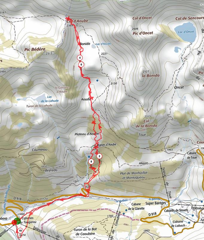 Trace GPS-Col d'Aoube-12 Janv 2017