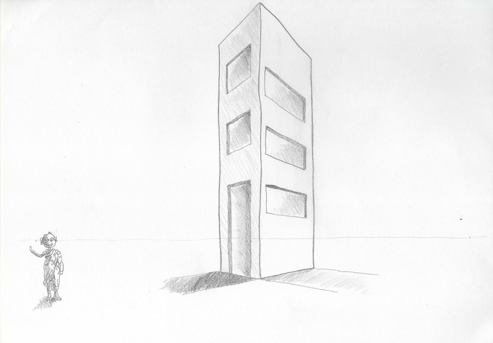 Modele Batiment En Perspective : Devoir n° quot initiation au dessin de perspective