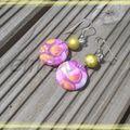 boucles violette/jaune