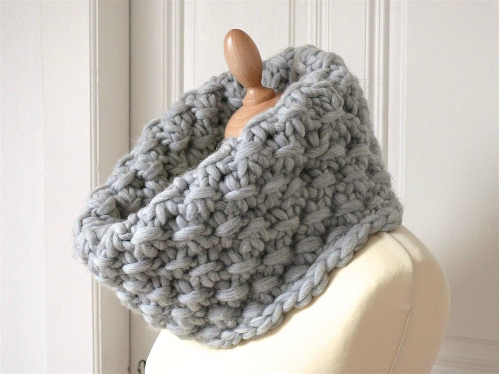 tricoter un snood aiguille 15