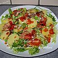 Salade tiède pommes de terre / sardines