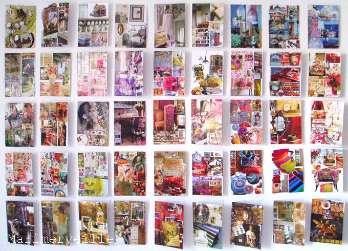 Mur d'inspiration en cartes (jeu de collage)