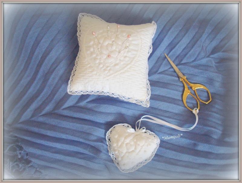 boutis coeur attache ciseaux et pique aiguilles