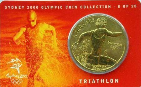 Triathlon Monnaie JO Sydney 2000 Bis