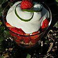 Strawberry fields forever: salade de fraises de plougastel au citron vert et mousse vanillée au lait de coco