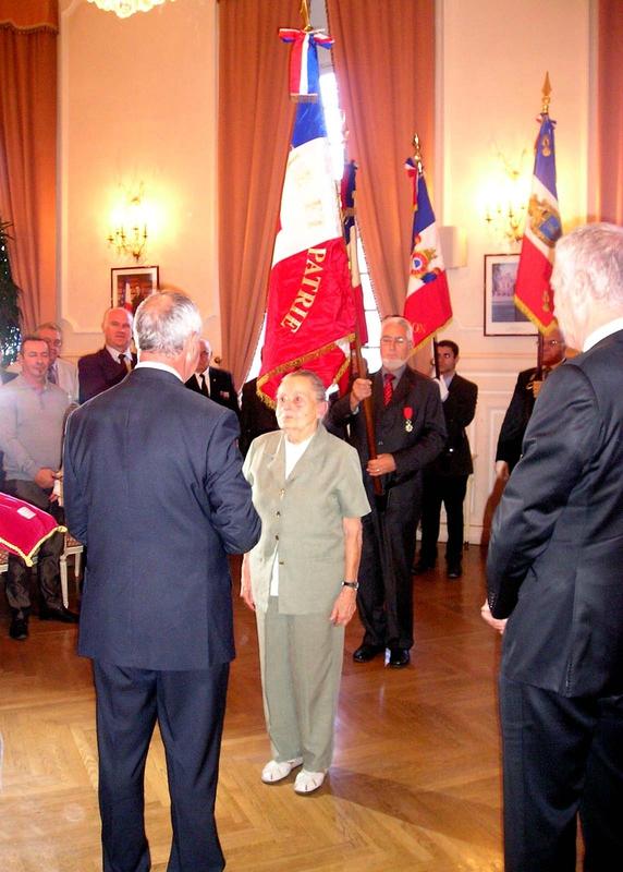 Légion d'honneur Madame Mireille Garcin 1
