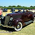 Ford model 68 4door convertible de 1936 (6ème Fête Autorétro étang d' Ohnenheim) 01