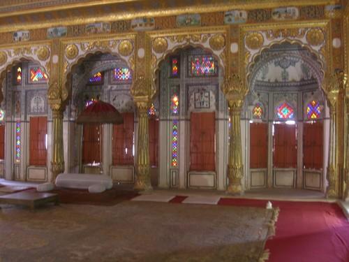 Jodhpur, forteresse Mehranghar, superbe salle