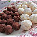 Truffes à la noix de coco et aux épices de noël