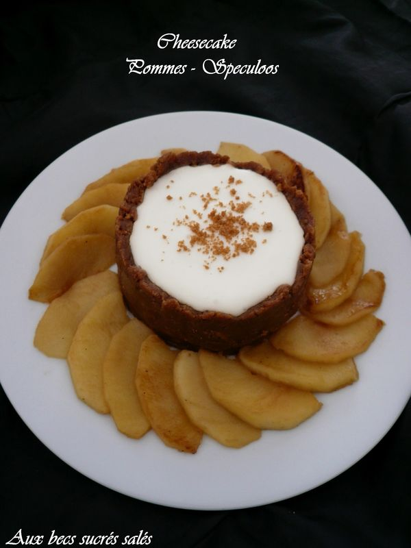 Cheesecake pommes speculoos sans cuisson aux becs sucr s sal s - Cheesecake sans cuisson speculoos ...
