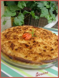 Tarte  l'abricot faon crumble (6)