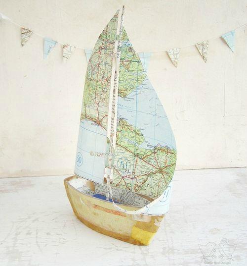 bateau de papier carte