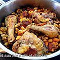 Poulet aux haricots et chorizo