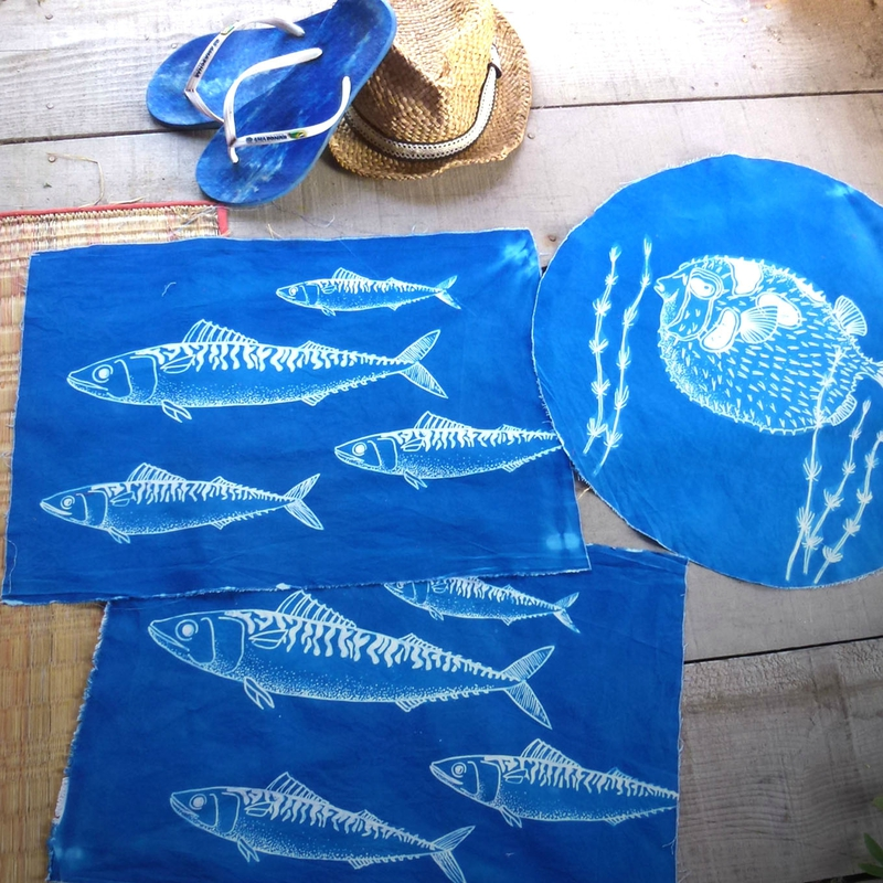 cyanotype poisson 8