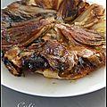 Tatin d'endives au chevre - tarta tatin de endibias al queso de cabra