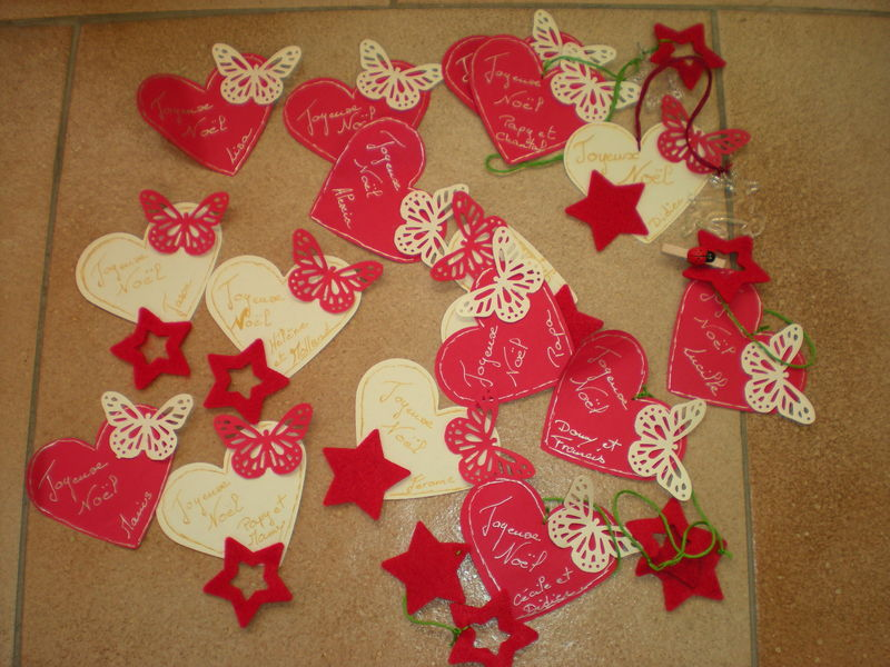 Etiquettes de no l scrap 6 mains for Porte nom de table noel