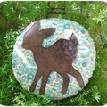 Bambi round Cushion