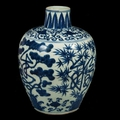 Porcelain vase with pine, bamboo, plum blossom design, Ming dynasty © Nanjing Museum / Nomad Exhibitions