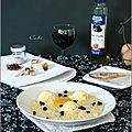 Risotto de couscous israélien, jaune d'œuf, crème de parmesan & ail noir - risotto de cuscus israeli, yema de huevo ....