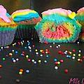 ♥ oh ! un cupcake arc-en-ciel !