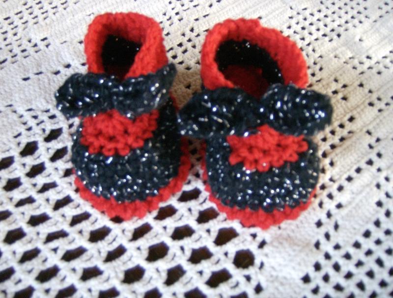rouge noir lamé avec noeud 03