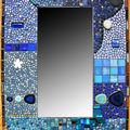 Miroir bleu de bleu