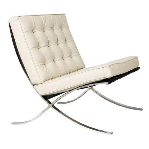 ludwig mies van der rohe ed knoll circa 1980 fauteuil barcelona en m tal chrom et cuir. Black Bedroom Furniture Sets. Home Design Ideas
