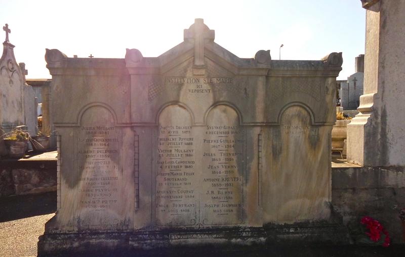 cimetière Institution Ste-Marie 12 fév 2014