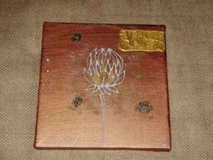 tableau cuivre chardon