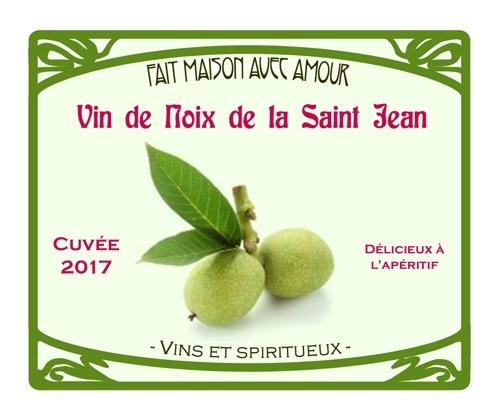 Vin de noix de la St Jean 2017